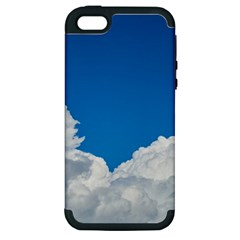 Sky Clouds Blue White Weather Air Apple iPhone 5 Hardshell Case (PC+Silicone)