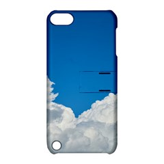 Sky Clouds Blue White Weather Air Apple iPod Touch 5 Hardshell Case with Stand
