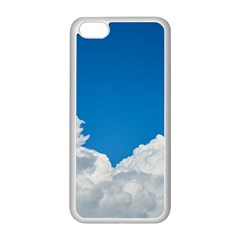 Sky Clouds Blue White Weather Air Apple iPhone 5C Seamless Case (White)