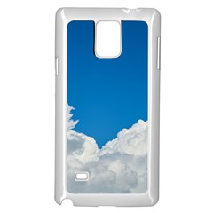 Sky Clouds Blue White Weather Air Samsung Galaxy Note 4 Case (White)