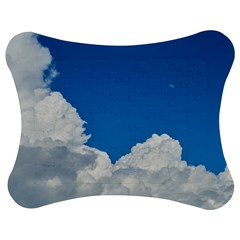 Sky Clouds Blue White Weather Air Jigsaw Puzzle Photo Stand (Bow)