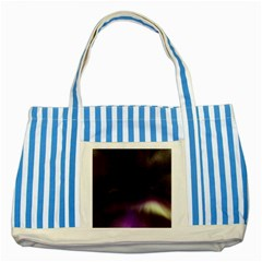 The Northern Lights Nature Striped Blue Tote Bag