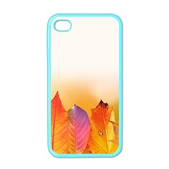Autumn Leaves Colorful Fall Foliage Apple iPhone 4 Case (Color)