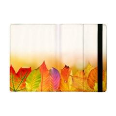 Autumn Leaves Colorful Fall Foliage Apple iPad Mini Flip Case