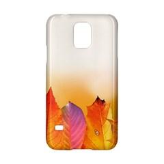 Autumn Leaves Colorful Fall Foliage Samsung Galaxy S5 Hardshell Case