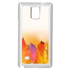 Autumn Leaves Colorful Fall Foliage Samsung Galaxy Note 4 Case (White)