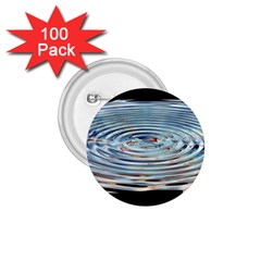 Wave Concentric Waves Circles Water 1.75  Buttons (100 pack)