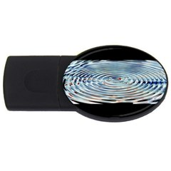 Wave Concentric Waves Circles Water USB Flash Drive Oval (2 GB)