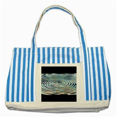 Wave Concentric Waves Circles Water Striped Blue Tote Bag