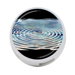 Wave Concentric Waves Circles Water 4-Port USB Hub (One Side)