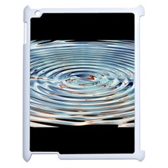 Wave Concentric Waves Circles Water Apple iPad 2 Case (White)