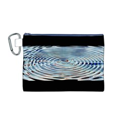 Wave Concentric Waves Circles Water Canvas Cosmetic Bag (M)