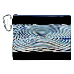 Wave Concentric Waves Circles Water Canvas Cosmetic Bag (XXL)