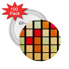 Mozaico Colors Glass Church Color 2.25  Buttons (100 pack)