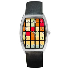 Mozaico Colors Glass Church Color Barrel Style Metal Watch