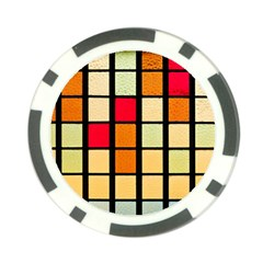 Mozaico Colors Glass Church Color Poker Chip Card Guard (10 pack)