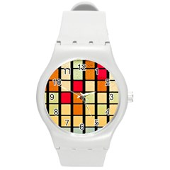 Mozaico Colors Glass Church Color Round Plastic Sport Watch (M)