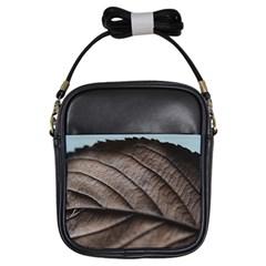 Leaf Veins Nerves Macro Closeup Girls Sling Bags