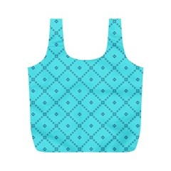 Pattern Background Texture Full Print Recycle Bags (M)