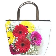 Flowers Gerbera Floral Spring Bucket Bags