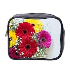 Flowers Gerbera Floral Spring Mini Toiletries Bag 2-Side