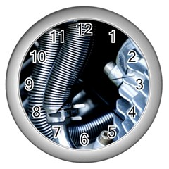 Motorcycle Details Wall Clocks (Silver)