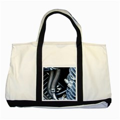 Motorcycle Details Two Tone Tote Bag
