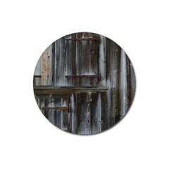 Alpine Hut Almhof Old Wood Grain Magnet 3  (Round)