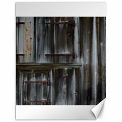 Alpine Hut Almhof Old Wood Grain Canvas 18  x 24