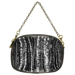 Birch Forest Trees Wood Natural Chain Purses (One Side)