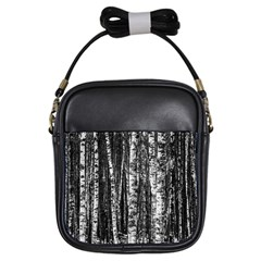 Birch Forest Trees Wood Natural Girls Sling Bags