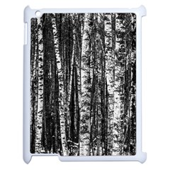 Birch Forest Trees Wood Natural Apple iPad 2 Case (White)