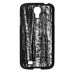 Birch Forest Trees Wood Natural Samsung Galaxy S4 I9500/ I9505 Case (Black)