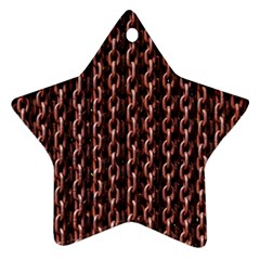 Chain Rusty Links Iron Metal Rust Star Ornament (Two Sides)