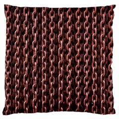 Chain Rusty Links Iron Metal Rust Large Cushion Case (One Side)