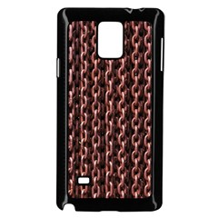 Chain Rusty Links Iron Metal Rust Samsung Galaxy Note 4 Case (Black)
