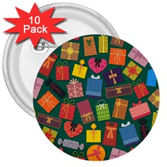 Presents Gifts Background Colorful 3  Buttons (10 pack)