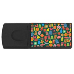 Presents Gifts Background Colorful USB Flash Drive Rectangular (1 GB)