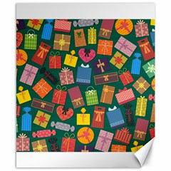 Presents Gifts Background Colorful Canvas 8  x 10