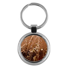 Ice Iced Structure Frozen Frost Key Chains (Round)