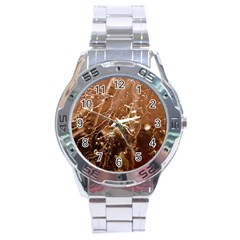 Ice Iced Structure Frozen Frost Stainless Steel Analogue Watch