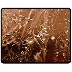 Ice Iced Structure Frozen Frost Double Sided Fleece Blanket (Medium)