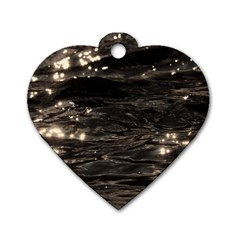Lake Water Wave Mirroring Texture Dog Tag Heart (Two Sides)