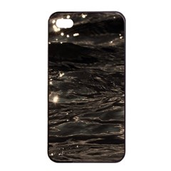 Lake Water Wave Mirroring Texture Apple iPhone 4/4s Seamless Case (Black)
