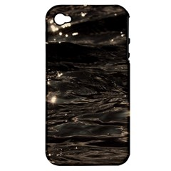 Lake Water Wave Mirroring Texture Apple iPhone 4/4S Hardshell Case (PC+Silicone)