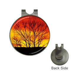 Sunset Abendstimmung Hat Clips with Golf Markers