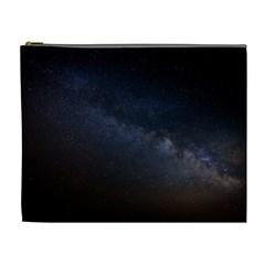 Cosmos Dark Hd Wallpaper Milky Way Cosmetic Bag (XL)