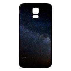 Cosmos Dark Hd Wallpaper Milky Way Samsung Galaxy S5 Back Case (White)