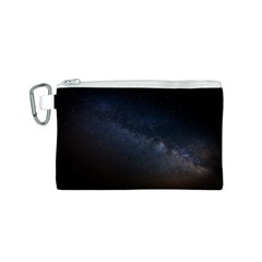 Cosmos Dark Hd Wallpaper Milky Way Canvas Cosmetic Bag (S)
