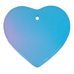Background Graphics Lines Wave Ornament (Heart)